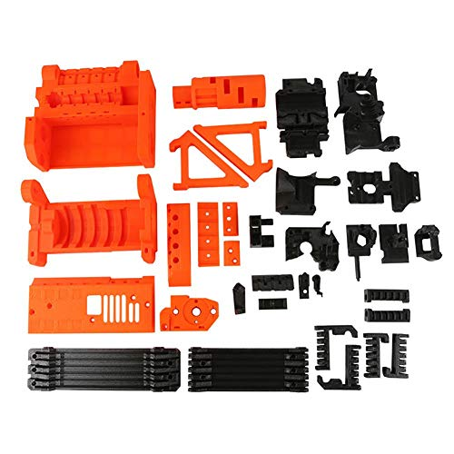 Fancylande The 3D Printer Part Set is used for the PLA plastic parts set of the Prusa I3 MK2.5S MK3S MMU2S upgrade kit, all parts are printed with high quality PLA filaments.