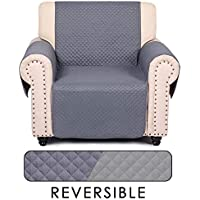 Cala Life Holiday Reversible Kids Chair Couch Covers (Smoky Gray / Gray)
