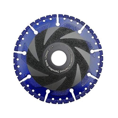YUNJINGCHENMAN 1pc 125mm Que se suelda la lámina del Diamante for de Uso múltiple for la Piedra, Hierro, Acero 5' Hoja de demolición