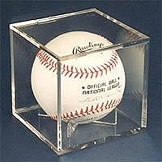 Ultra Pro NA UV Protected Square Baseball Cube Ball Holder Display Case, Clear