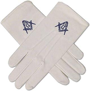 M2-GLC Cotton Gloves with Masonic Emblem