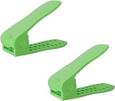 Winice - Zapatero Ajustable (2 Unidades), Color Verde