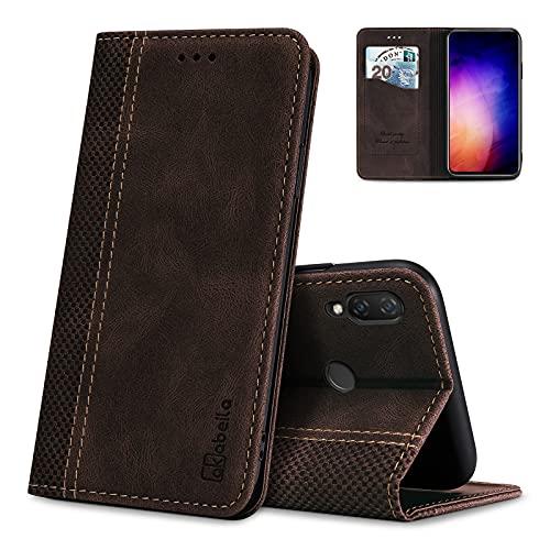 AKABEILA Hülle für Huawei Nova 3i/P Smart Plus Handyhülle Leder Flip Hülle Ständer PU Brieftasche Schutzhülle Klapphülle Tasche Hülle mit [Kartenfach] [Standfunktion] [Magnetisch]