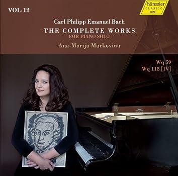 C.P.E. Bach: The Complete Works for Piano Solo, Vol. 12