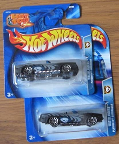 Hot Wheels 2004 Wastelanders Plymouth Barracuda schwarz 195 CARD VARIATIONS by Mattel
