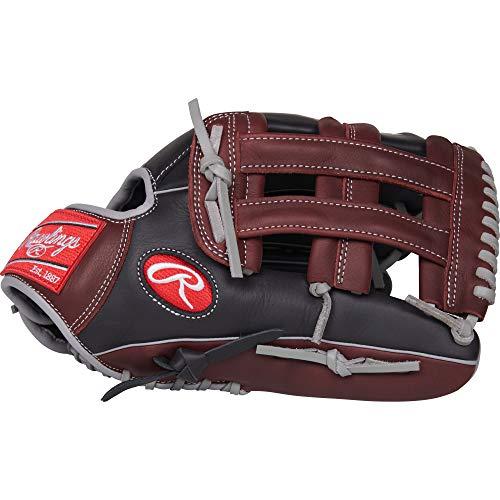 Rawlings R9 Baseball Glove, Black, 12.75'