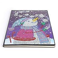 ノート メモ帳 方眼 可愛い DIY クリスマス 特別な形の塗装 ダイヤモンド 60ページ A5ノートブック 日記帳 ギフト 大人の贈り物 クリスマスシリーズ 誕生日プレゼント