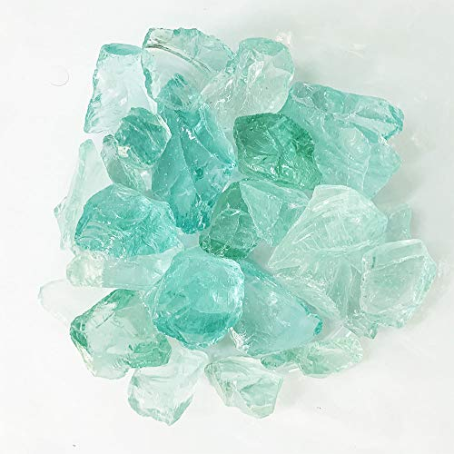 Pack of 1 lbs, Approx 18 oz, Vase Filler Sea Glass for Aquarium, Crafts, Home Decor, Non-Toxic Lead Free(Frosted Light Blue)