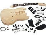 Solo SG Style DIY Guitar Kit, Basswood Body, 3 Pick Ups