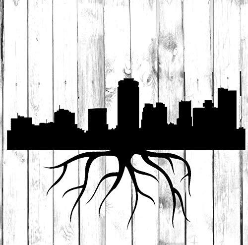 Calcomanía de Phoenix Skyline Roots – Di Cut – Yeti/vaso/botella de agua/hogar/ordenador portátil/computadora/camión/coche parachoques calcomanía calcomanía