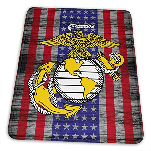USMC Marine Corps Anchor Mouse Pad - Non-Slip Mousepad Rubber Gaming Mouse Pads Anime Mouse Pad Home Office Computer Gaming Mousepad Mat 7.9 x 9.5 inch