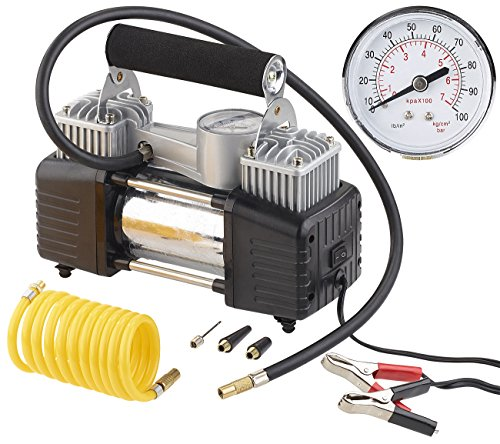 Mini compresseur 12 V / 10 bar avec manomètre – 55L/mn