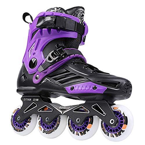 Ylight Inline Speed Skates Schuhe Hockey Rollschuhe Turnschuhe Rollen Frauen Männer Rollschuhe Für Erwachsene Skates Inline Professional,Lila,45