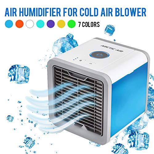 amayituo Mini humidificador de Aire Acondicionado portátil USB purificador de 7 Colores de luz de Escritorio Ventilador de refrigeración de Aire Ventilador de refrigeración para el hogar de Oficina