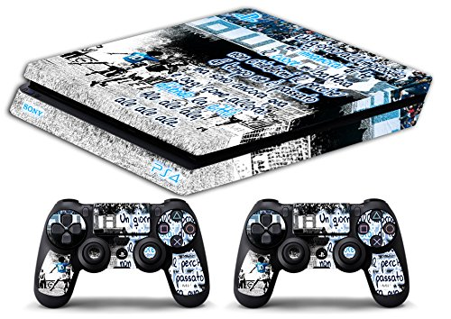 Skin Ps4 SLIM - NAPOLI UN GIORNO ALL IMPROVVISO ULTRAS CALCIO - limited edition DECAL COVER ADESIVA Playstation 4 Slim SONY BUNDLE