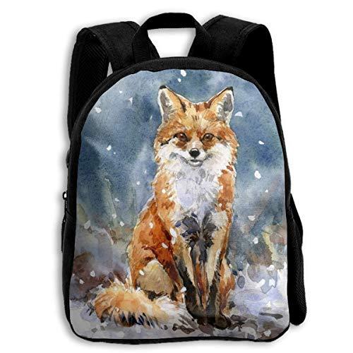 jenny-shop Fox Toddler Backpack 13 'Sacs à Dos d'école pour Enfants pour garçons et Filles