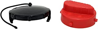 Valterra Black T1020-3VP Universal Drain Hose Bayonet Drip Cap Set-Red, Carded