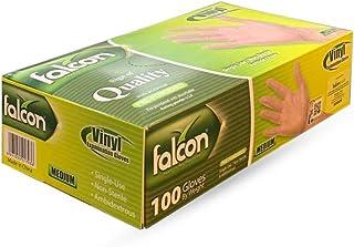 Falcon Vinyl Examination Gloves, Medium, 100 Count