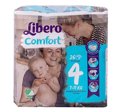 Libero Comfort, pannolini, taglia 4, confezione da 26