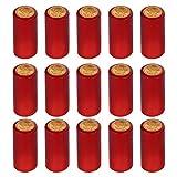 Tomaibaby Cápsulas Retráctiles de 100 Piezas Cápsulas de Botella de Vino de Envoltura Retráctil de Vino para Bodegas de Vino Tinto