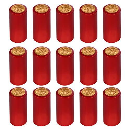 Toyvian 100 Stück Schrumpfkapseln Weinschrumpffolie Weinflaschenkapseln für Weinkeller Rotwein für Den Heimgebrauch