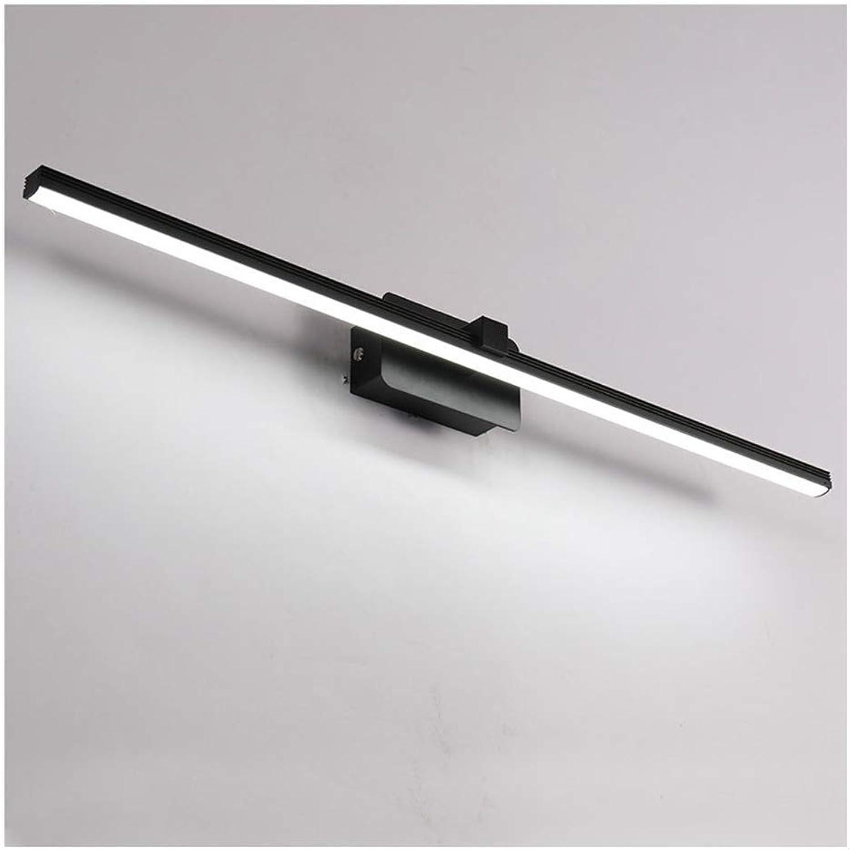 BAIF Beleuchtung LED-Spiegel Scheinwerfer, wasserdicht und beschlagfrei Badezimmer Wandleuchte Spiegelschrank Licht Kosmetikspiegelleuchte (Farbe  Schwarz-500mm)