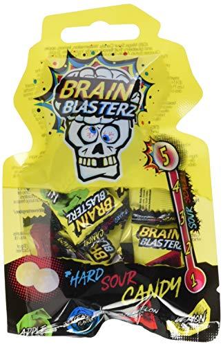 Brainblasterz Candy Drop Beutel | einzeln verpackte extrasaure Bonbons, 4-fach sortiert | 18 Beutel im Tray (18 x 40g)