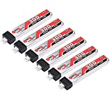 GAONENG 6pcs 300mAh 30C 1S LiPo Battery 3.8V/4.35V LiHv Battery with JST-PH 2.0 Connector for UZ65 Tiny Whoop Micro FPV Racing Drone