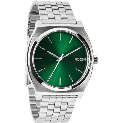 Nixon 0 - Reloj de Cuarzo Unisex, con Correa de Acero Inoxidable, Color Plateado