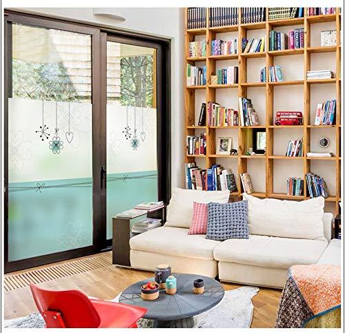 WGSJA raamviscose statische kleuring decoratieve folie, ondoorzichtig glas privacy huisdecoratie pasta crème, verwijderbaar vinyl