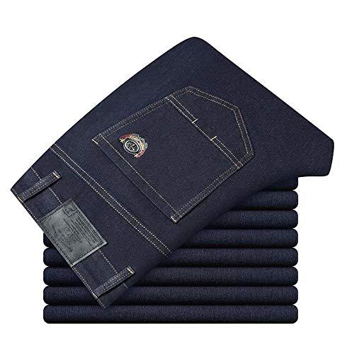 Jeans Hose Neue Lässige Herrenhose Baumwolle Slim Straight Jeans Mode Business Design Bunte Neue Herren Business Jeans6 Farben 34 Blau