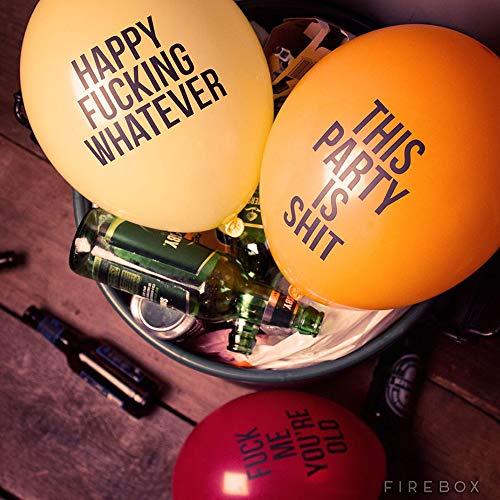 Monsterzeug Gemeine Luftballons 12er Set, Abusive Balloons, Ballons mit fiesen Sprüchen