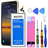 Wavypo Galaxy S8 Active Battery, 4200mAh Lithium Polymer Battery Replacement for Samsung Galaxy S8 Active EB-BG892ABE SM-G892, SM-G892A with Repair Toolkit [12 Month Warranty]