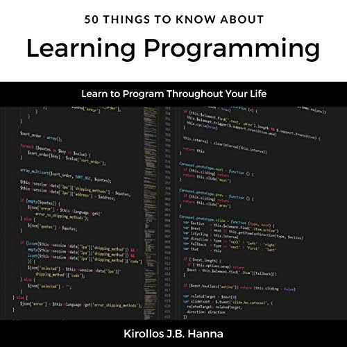 50 Things to Know About Learning Programming audiobook cover art