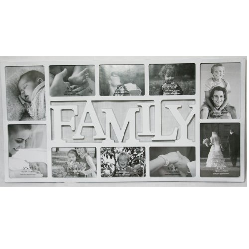 CORNICE 'WOP ART' 'FAMILY' BIANCO PER 10 FOTO - Tinas Collection