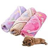 Zhuotop Couverture Douce Imperméable Voiture pour Petit Chien ou Chat pour Animal Domestique Coussin Tapis Motif Pattes, 60 * 40cm & Pink