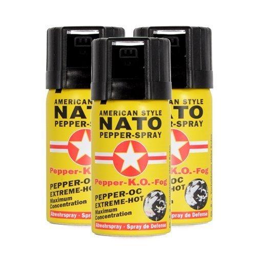 """3 Stück Pfefferspray NATO \""""FOG\"""" - Extrem - 50ml zur Tierabwehr!"""