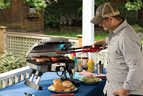 Cuisinart CEG-980T Outdoor Electric Tabletop Grill,Silver/Black,18.6 x 11.8 x 17.6-Inch