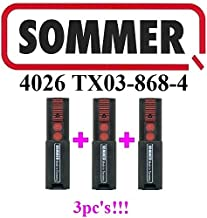 Transmisor Sommer de 2 comandos Pearl Twin S10019-00001 para operadores de puertas Sommer