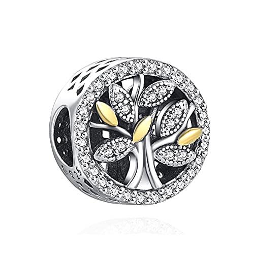 Pandora 925 plata esterlina DIY colgante joyería encanto familia árbol de la vida encanto granos ajuste encantos pulsera joyería para mujeres s regalos