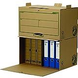 Confezione da 5 Bankers Box 4460503 Basic Flip Top Box Maxi Scatola Archivio