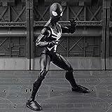 JXXDDQ Spiderman Model Toy - Avengers 3/4 Black Spider Man Personaje de acción 7 Pulgadas / 18cm Set Mobile Toy Boy - Colección de Regalos de cumpleaños para niños