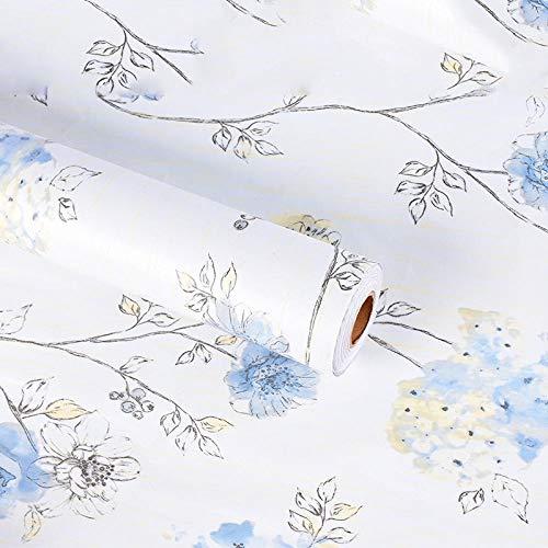 Zelfklevend behang, waterdicht, 10 meter, bloemen, warme muurstickers voor meisjes, slaapkamer, decoratie voor woonkamer, slaapkamer, 1 rol, 45 cm, 10 m