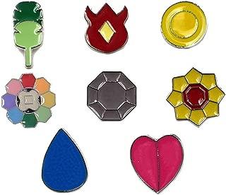 pokemon kanto gym badges pins