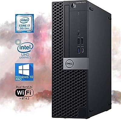 Dell OptiPlex 5070 SFF Desktop Computer - Intel Core i7-9700 4.7 GHz, 16GB RAM 256GB M.2 NVMe SSD, UHD Graphics 630 4K Support, DisplayPort, Wi-Fi, Bluetooth, USB Type-C – Windows 10 Pro