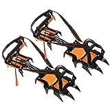 Cubierta de Zapatos Botas de crampones de Garra de 12 Dientes al Aire Libre Antideslizante Accesorio de Cubierta de Zapatos de Hielo