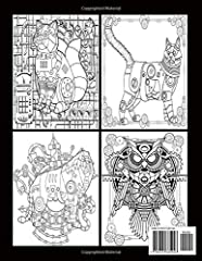 Steampunk Animals Adult Coloring Book: With Dog, Lion, Elephant, Owl, Cat, Wolve, and More!, Best Relaxation Book (Steampunk Coloring Books for Adults) #1