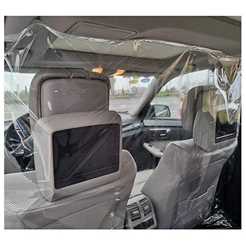 ASZX Autoschutzschild, transparenter Husten-Nieschutz, vollflächige Kfz-Isolationsfolienabdeckung, Taxi-Trennwand,1.4 * 2m