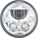 Vision X Lighting (XMC-7RD) 7' Round VX Motorcycle LED Headlight w/Low-High-Halo, Single Light, Polished Chrome Face