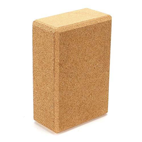 Trihedral-X Bloque de corcho natural ecológico para yoga, pilates, fitness, cubos de yoga ligeros, para estiramiento, almohada (color: corcho)